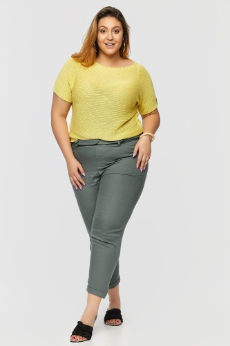 Sweter Risan Plus Size Cytrynowy