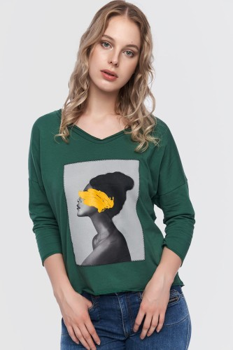 Bluza Grafiti BS Bistro Green