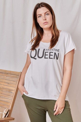 T-shirt QuQu Plus Size Ekri