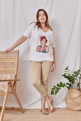 T-shirt Samantha Plus Size Ekri